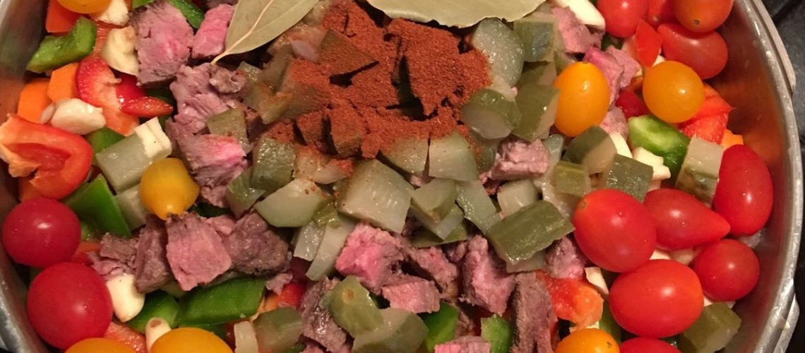Photo of uncooked ingredients for homemade soup